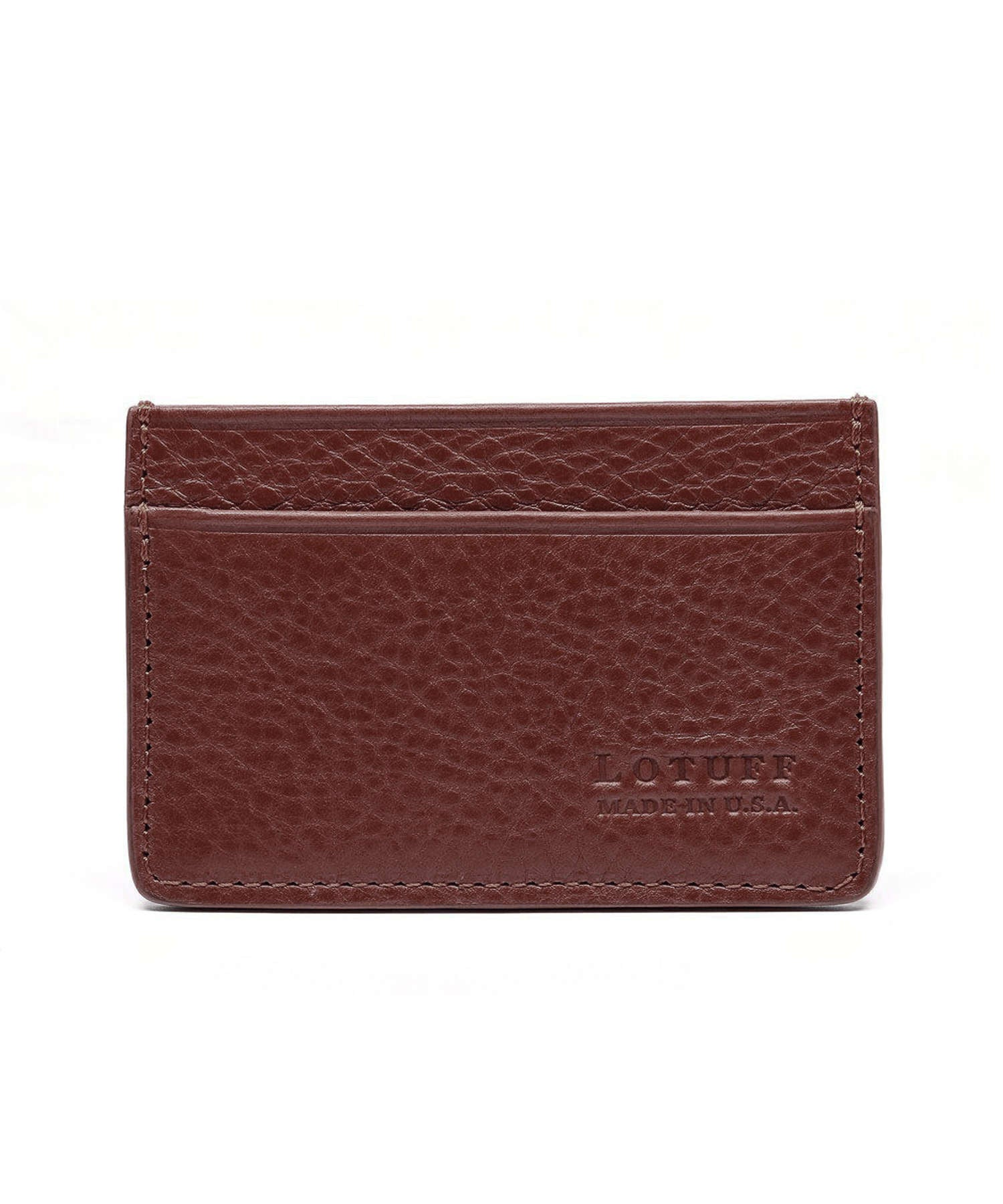 Lotuff Chestnut Leather Credit Card Wallet
