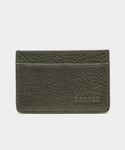 Credit Card Leather Wallet in Olive