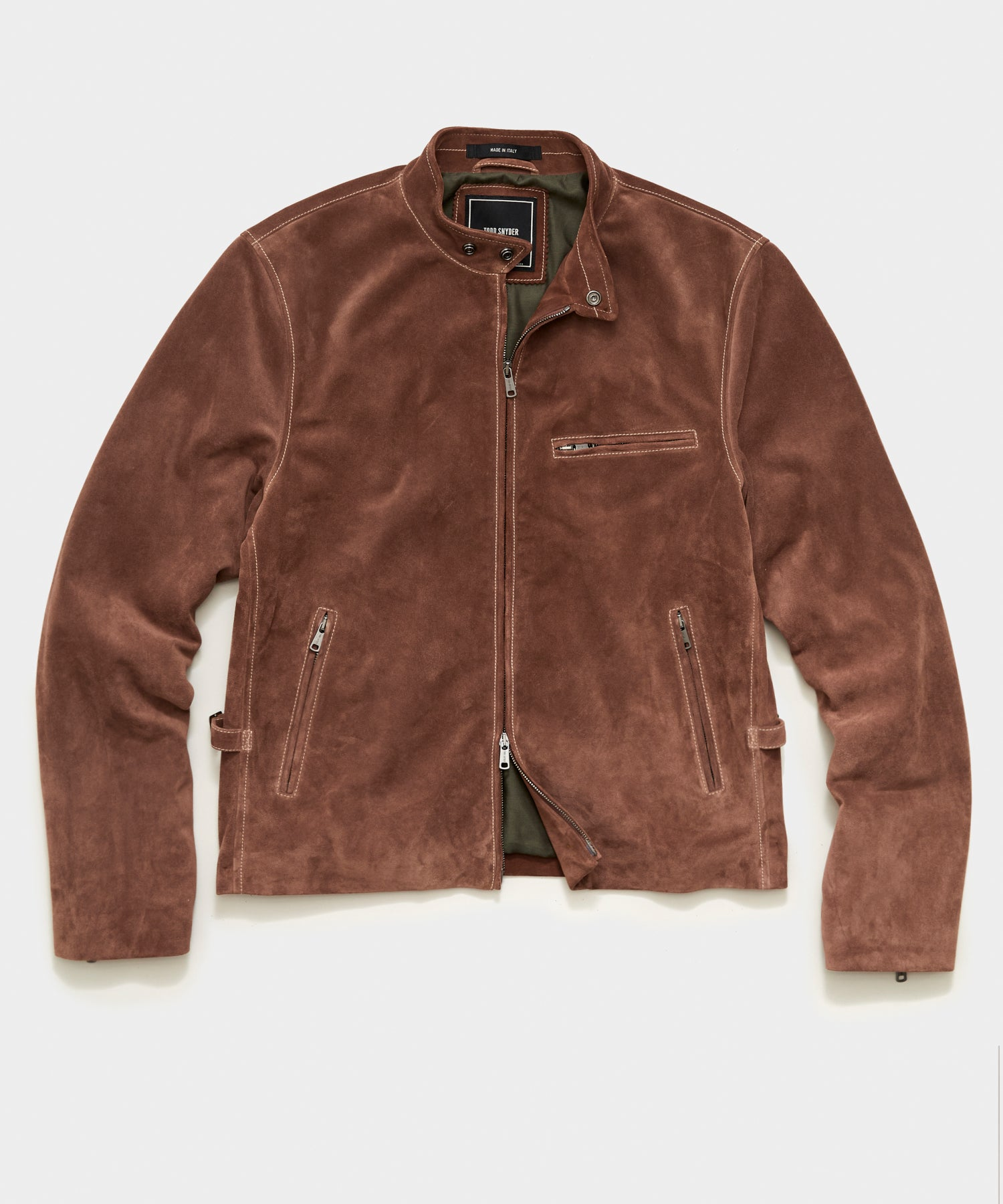 Italian Suede Cafe Racer in Brown