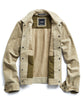 Italian Suede Snap Front Dylan Jacket in Desert Sand Alternate Image