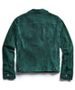 Italian Suede Snap Front Dylan Jacket in Green Alternate Image
