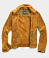 Italian Suede Snap Dylan Jacket in Brass
