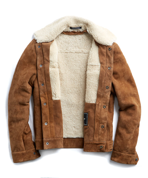 Dylan Shearling Jacket in Nutmeg