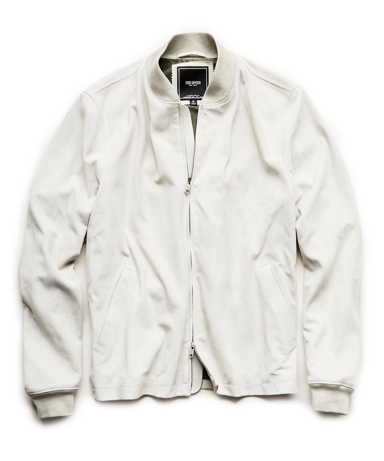 Brando Bomber in Light Grey