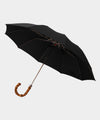 London Undercover Black Telescopic Foldable Umbrella with Wahngee Handle