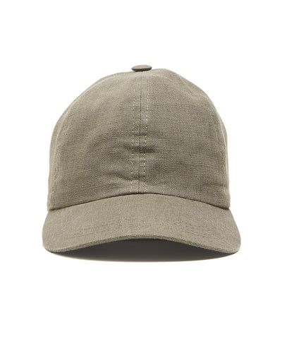 Lock and Co Rimini Baseball Cap In Olive Linen 1675231166484