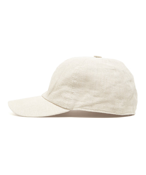 Lock and Co Rimini Baseball Cap In Ivory Linen