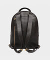 Lotuff Black Leather Backpack