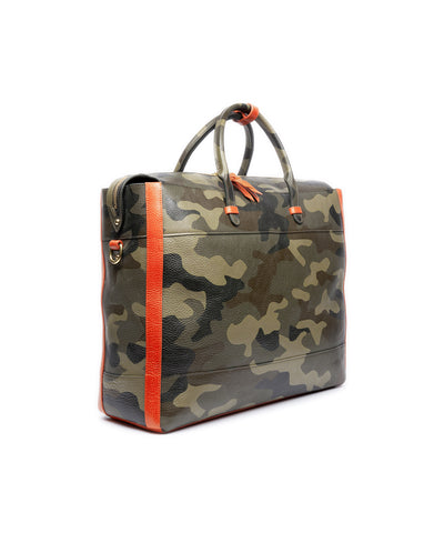 Lotuff Leather Hand Painted Leather Camo Bag