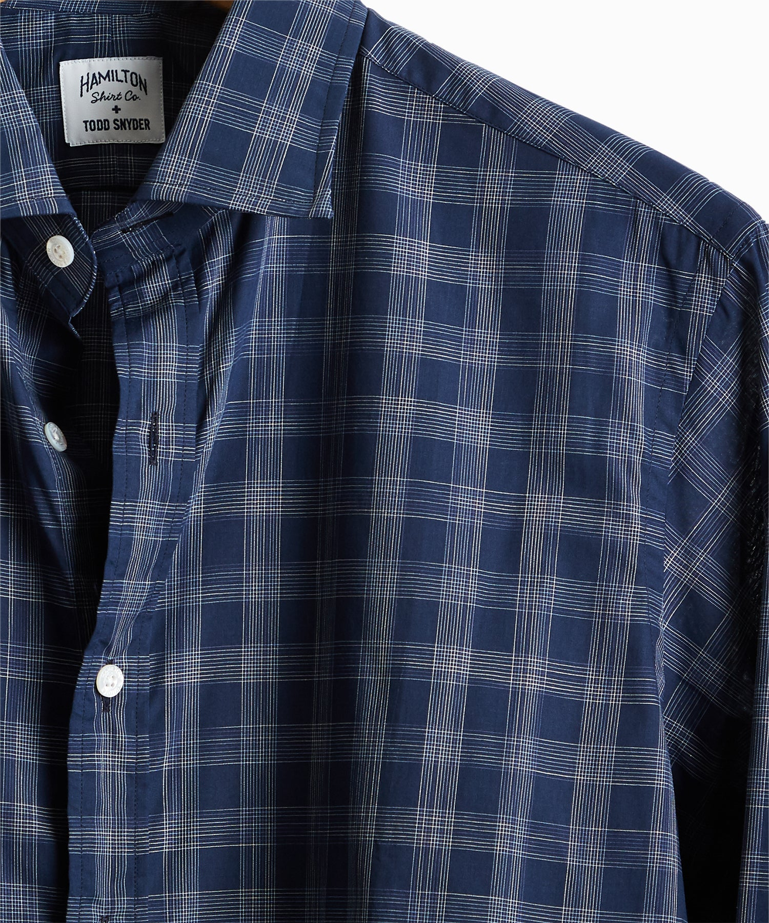 Made in USA Hamilton + Todd Snyder Check Dress Shirt