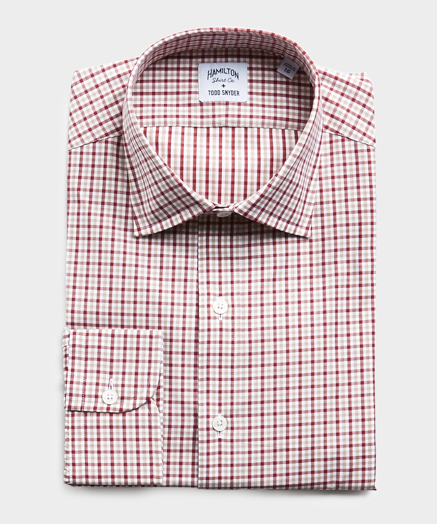 Made in USA Hamilton + Todd Snyder Gingham Dress Shirt