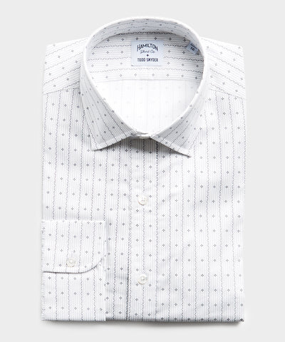 Made in USA Hamilton + Todd Snyder Geometric Print Dress Shirt