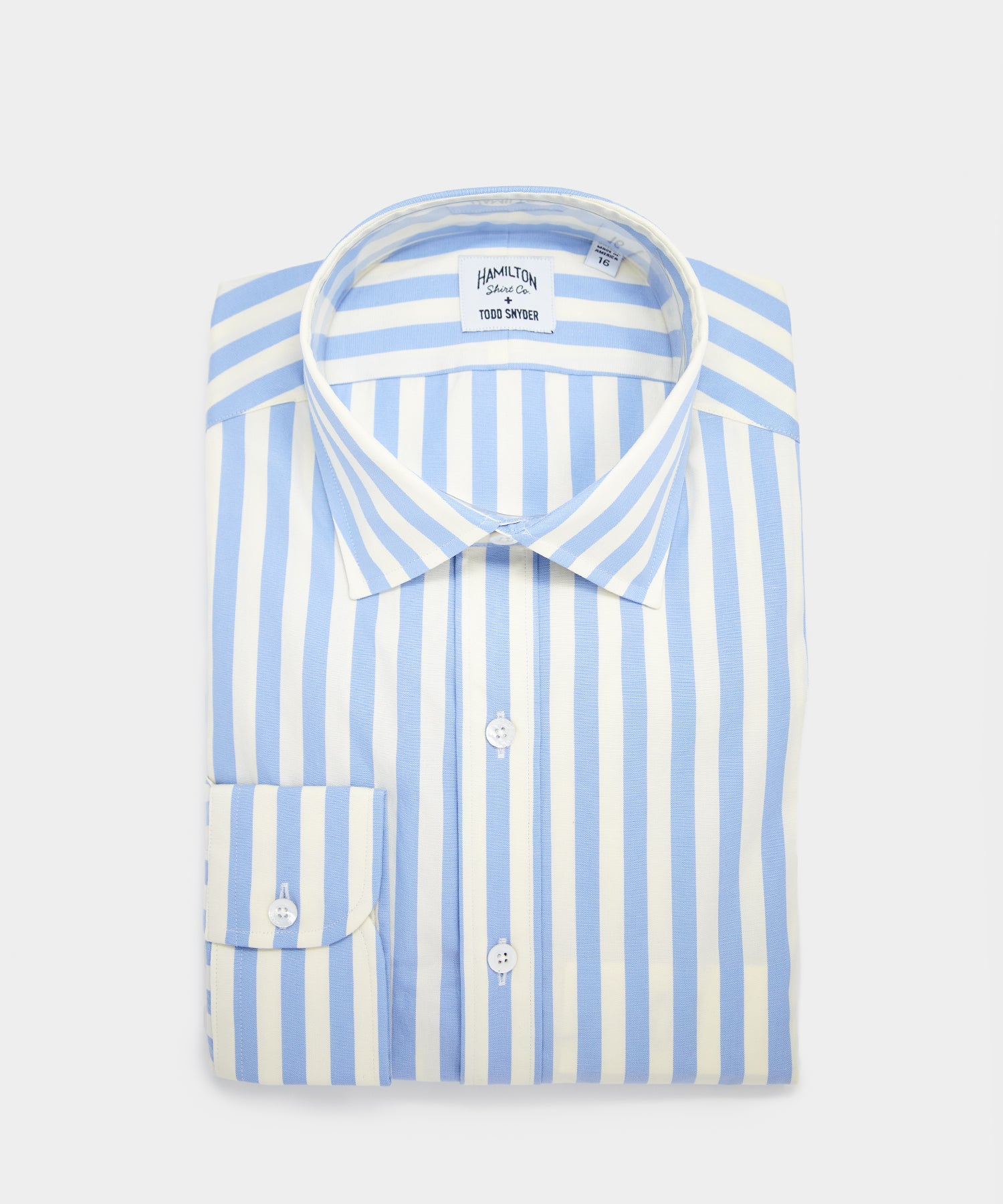 Made in USA Hamilton + Todd Snyder Vintage Stripe Poplin Dress Shirt