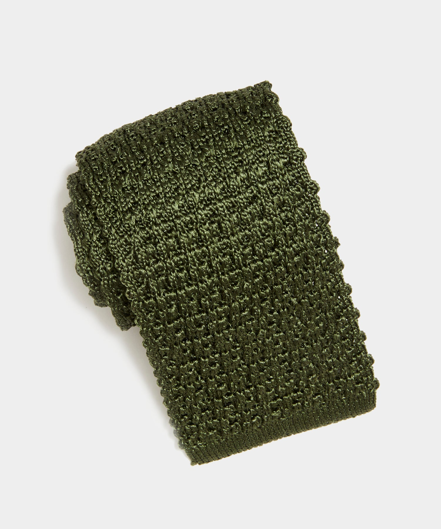 TS x Drake's Silk Knit Tie in Green