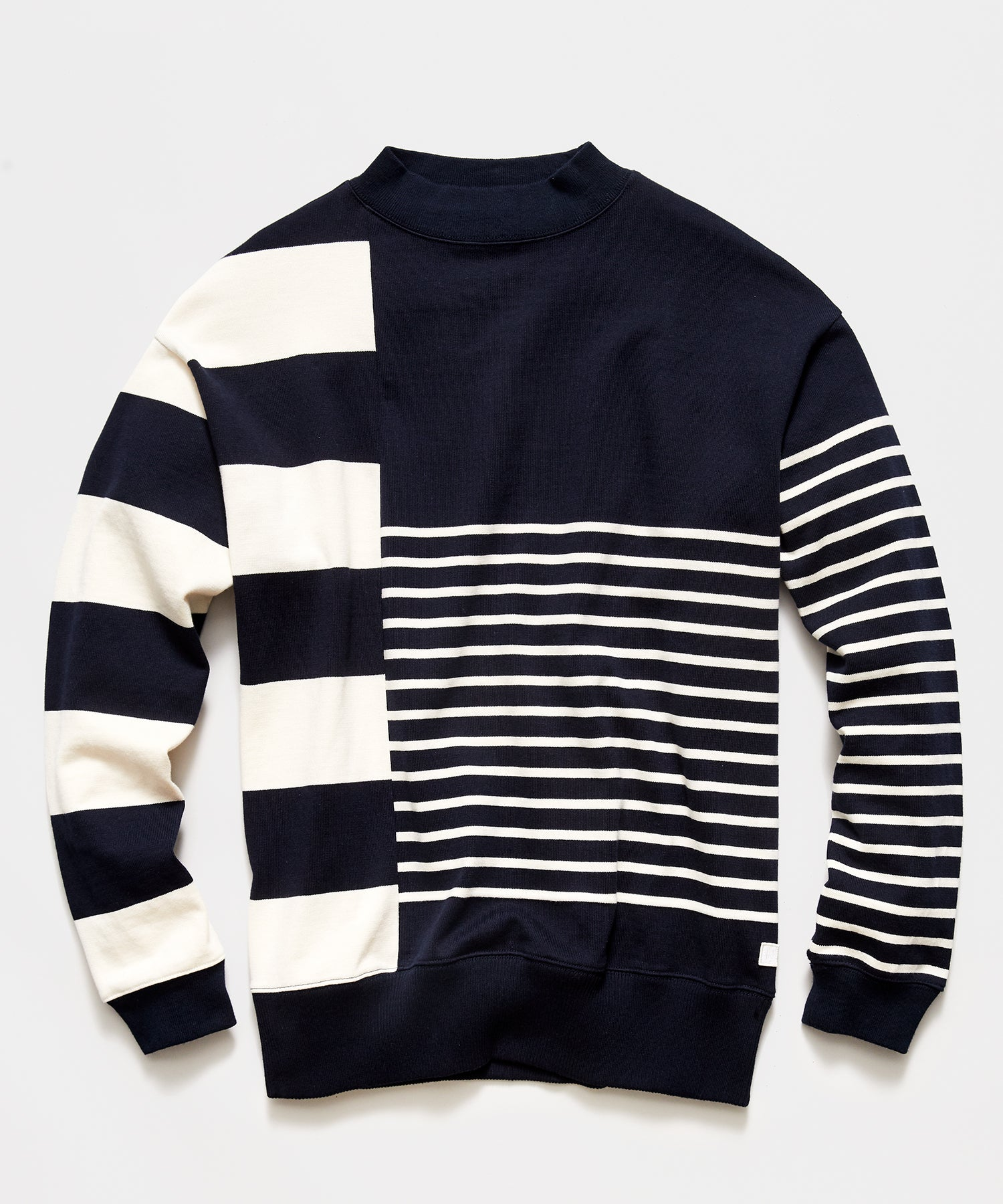 Nanamica Colorblocked Sweater in Navy