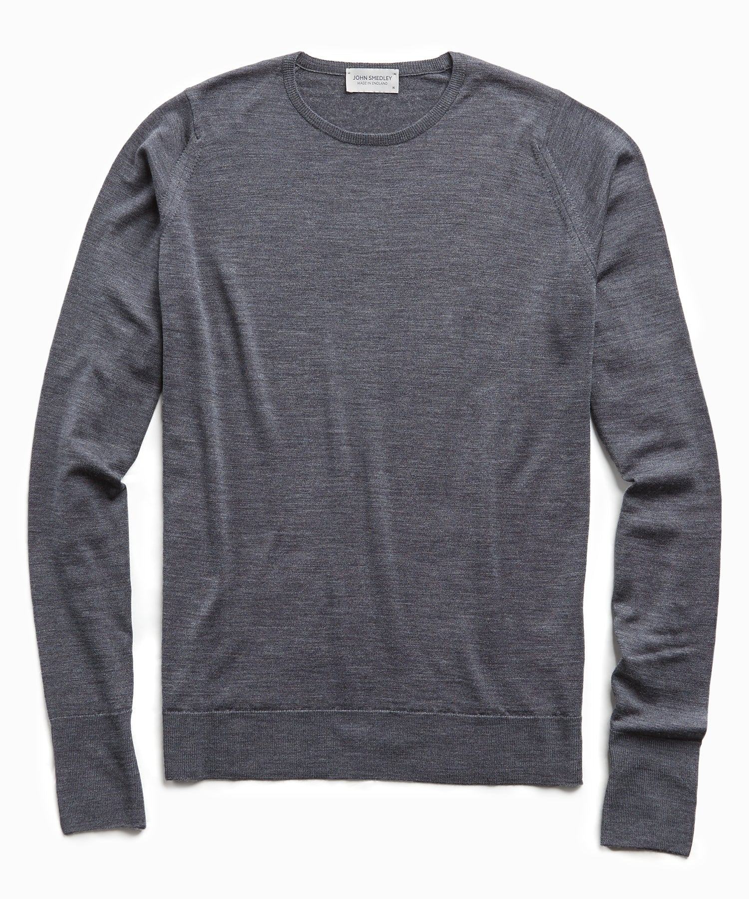 John Smedley Easy Fit Merino Crew in Charcoal