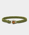 Scoshsa Classic Fishtail Button Bracelet with Tiger Eye in Olive