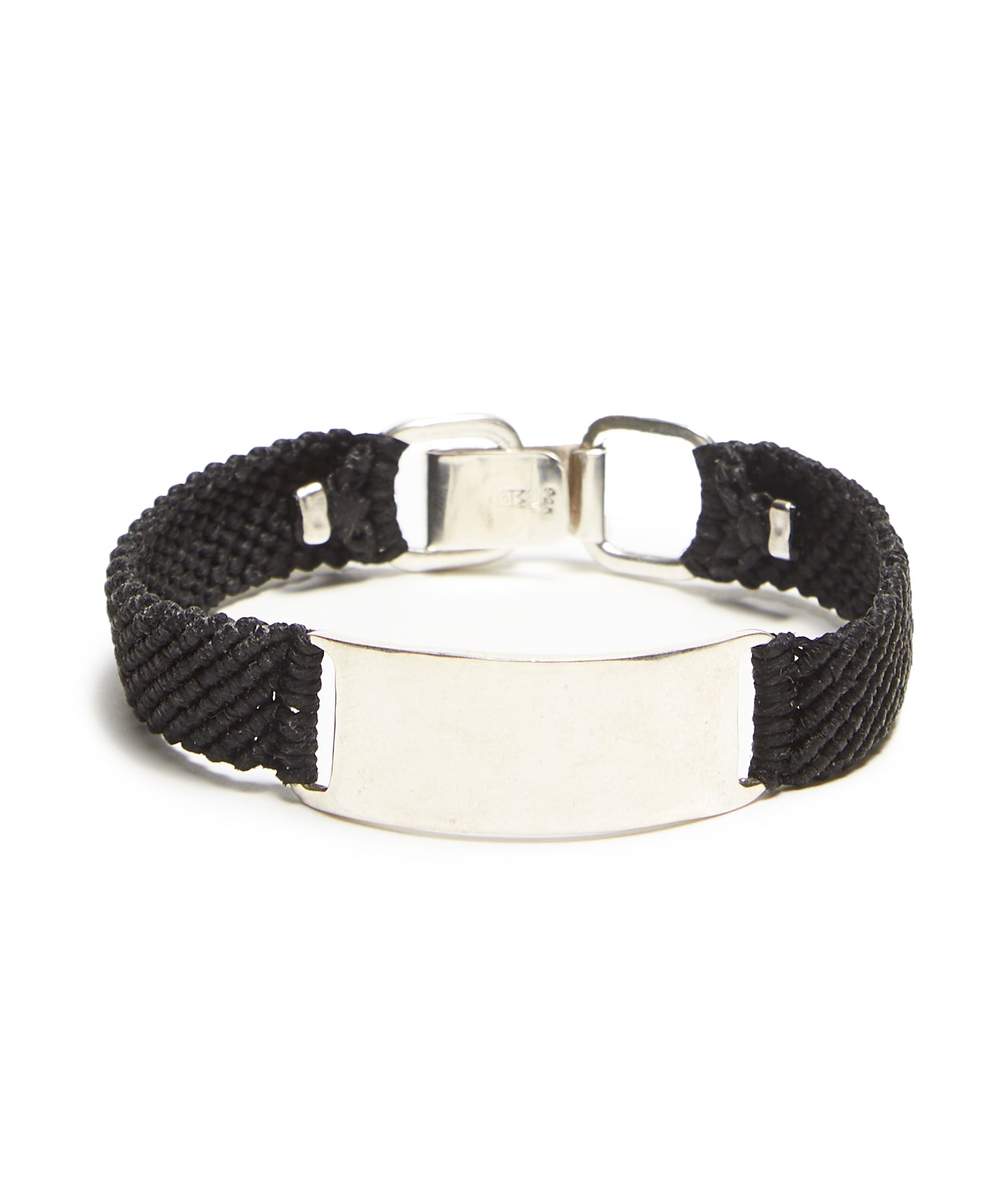 Scosha Belt ID in Silver and Black