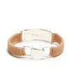 Scosha Belt ID in Silver and Brazil Tan