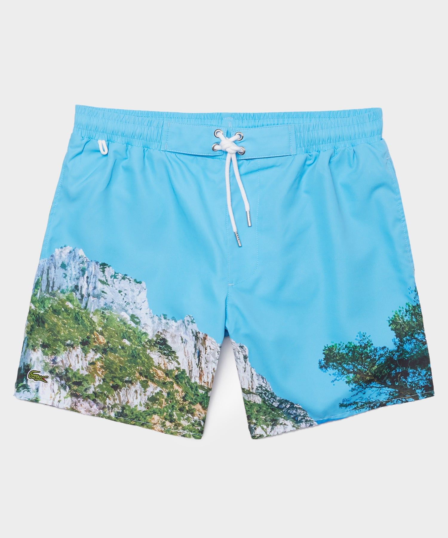 Lacoste Ibiza Graphic Printed Swim Trunks