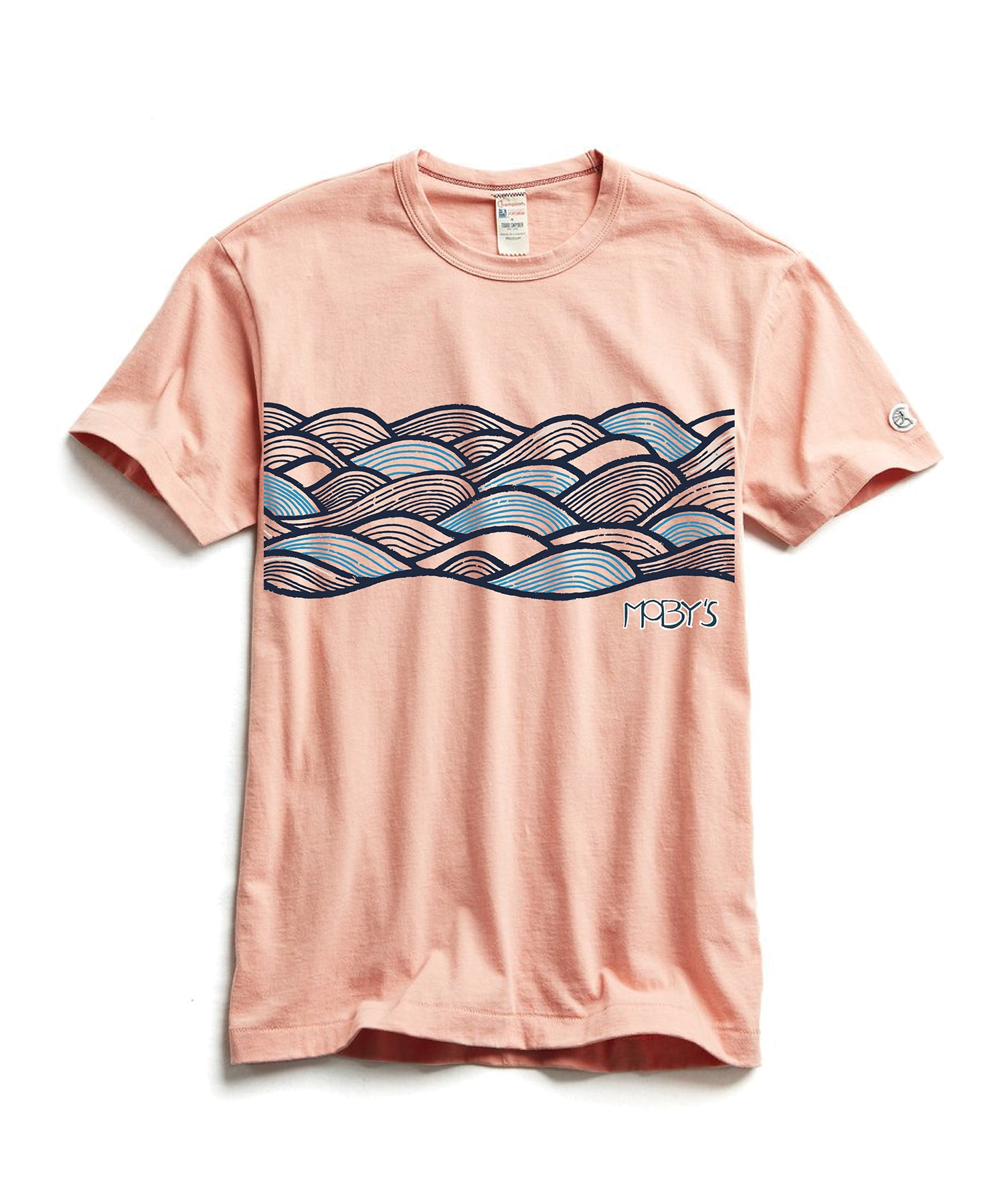 Moby's Ocean Tee in Pale Salmon