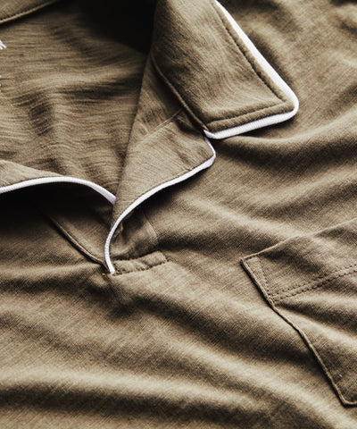 Made in L.A. Tipped Montauk Polo in Olive