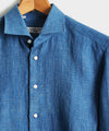 Emanuele Maffeis + Todd Snyder Denim Dress Shirt in Dark Indigo