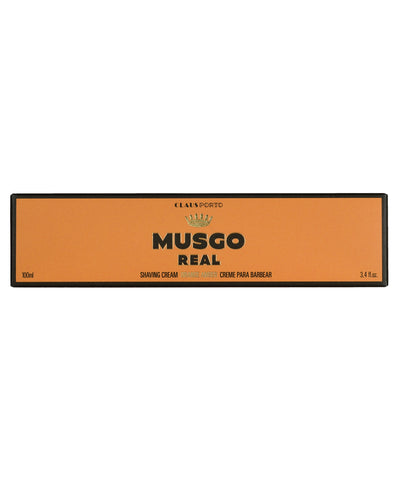 MUSGO REAL SHAVING CREAM ORANGE AMBER 3,4 fl.oz.