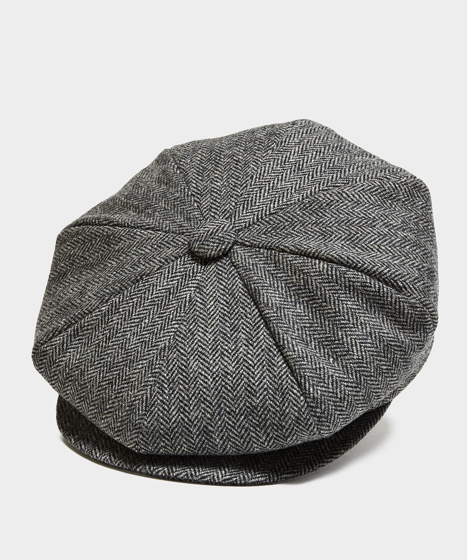 Lock & Co Muirfiled Cap in Charcoal Moon Herringbone