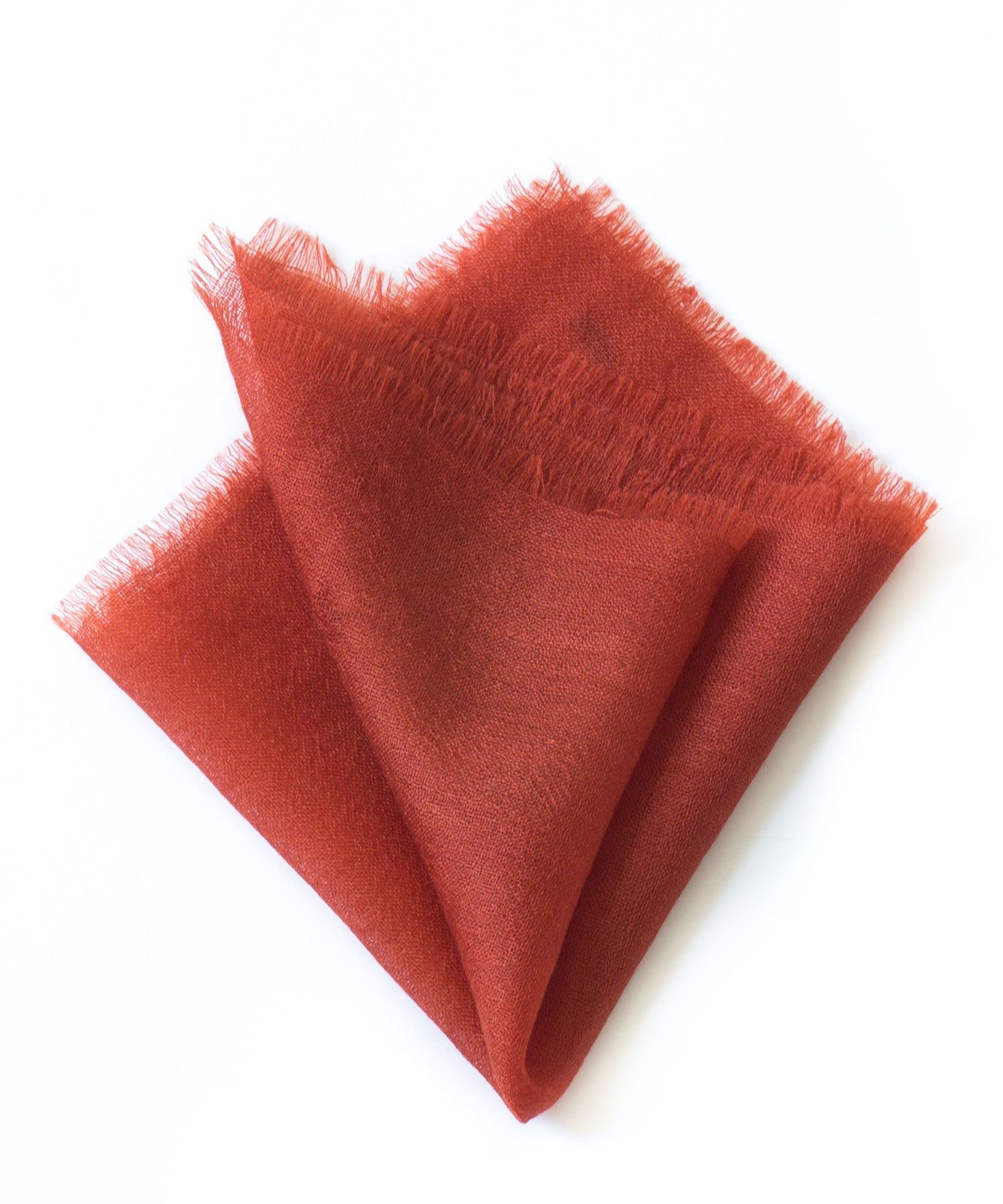 From The Road Marici Cashmere Pocket Square in Red