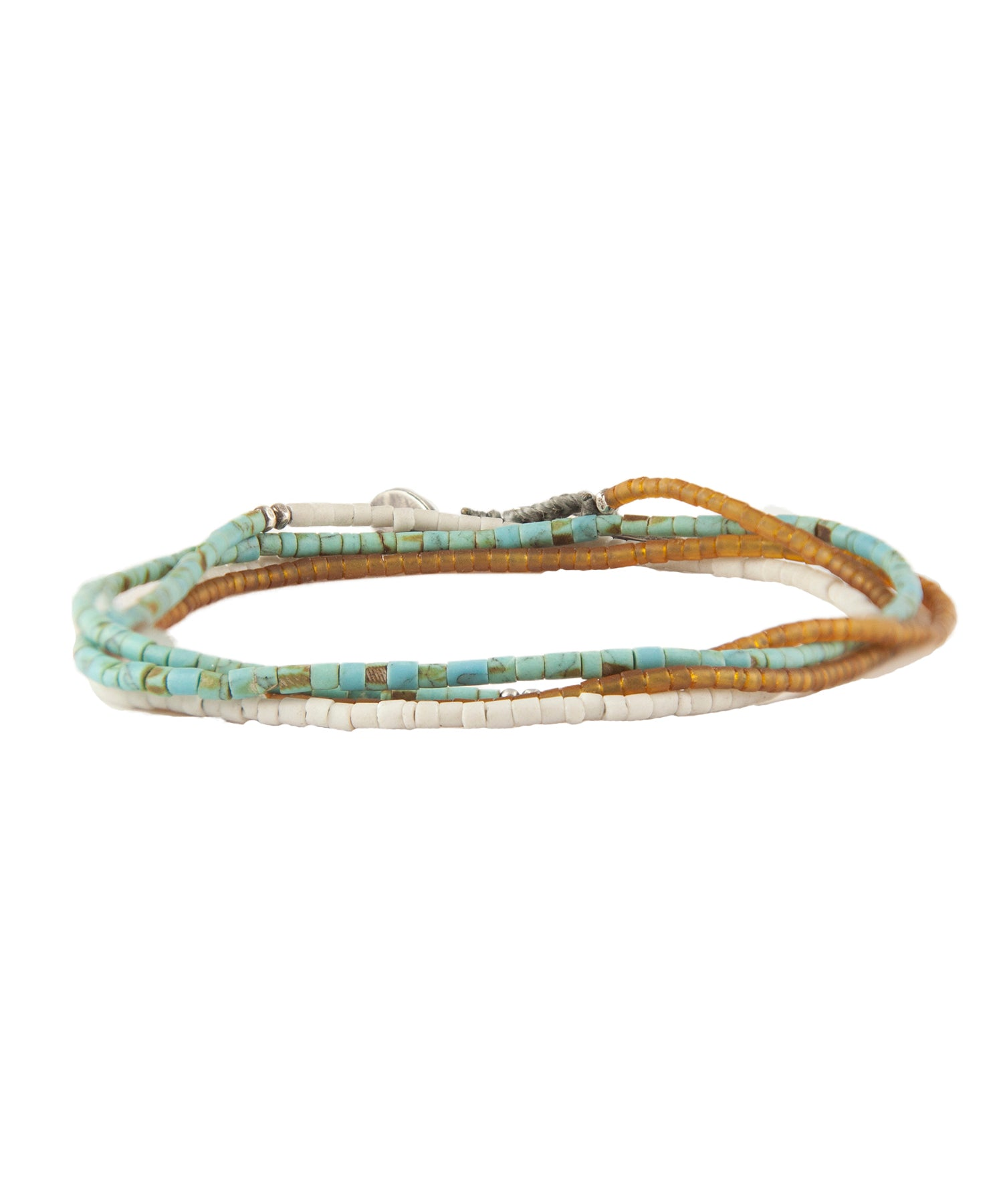 M. Cohen Mini Bead Horizon Necklace/Wrap Bracelet