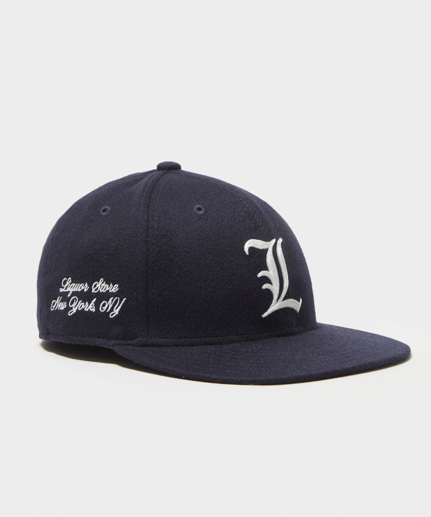 Todd Snyder + New Era Exclusive Cashmere Liquor Store Cap in Navy