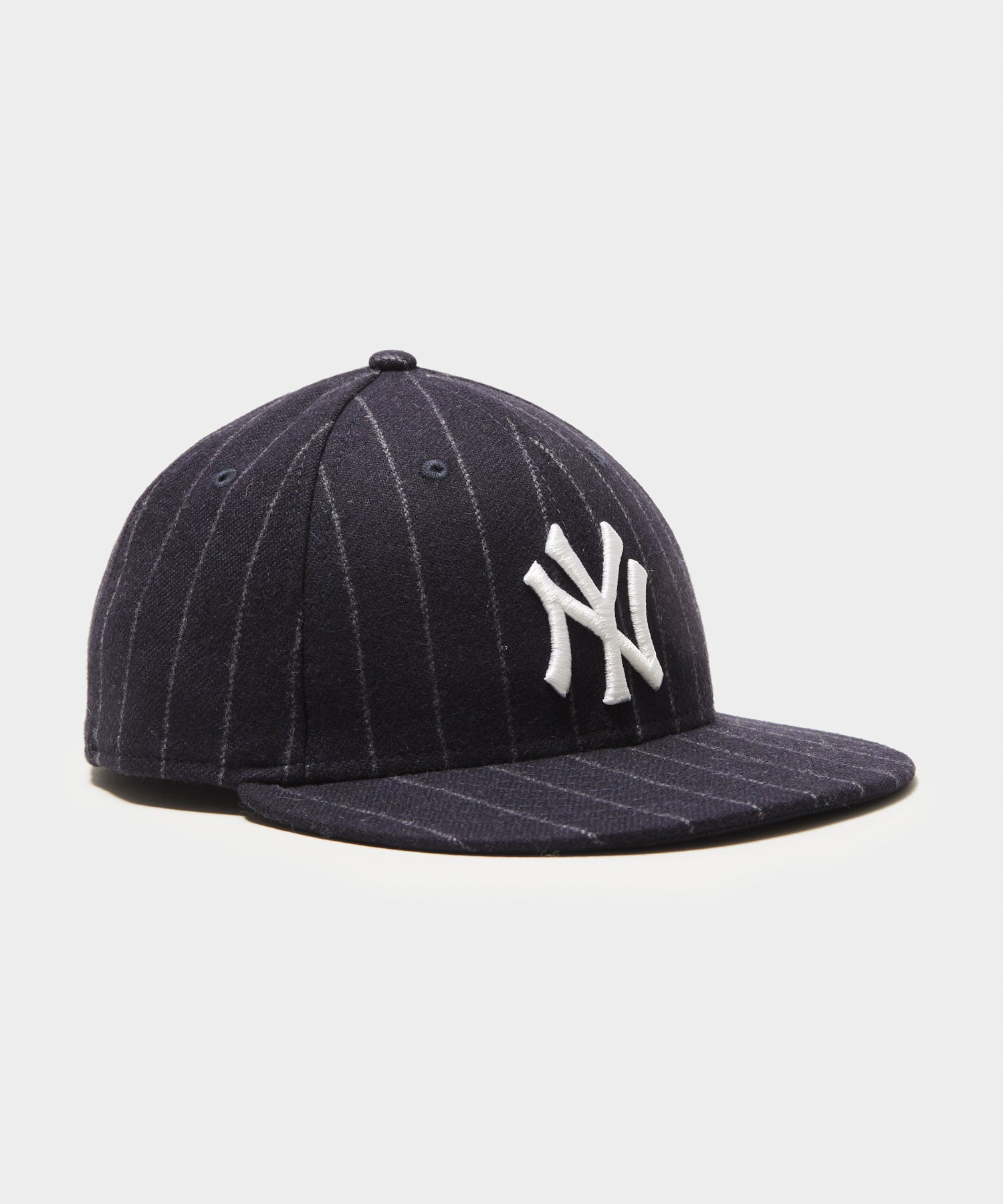 Todd Snyder + New Era NY Yankees Low Profile Cap in Navy Wool Chalkstripe