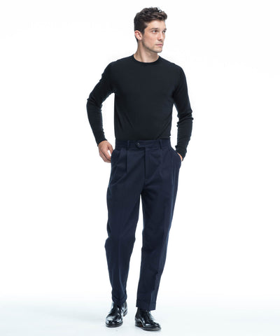 John Smedley Easy Fit Crewneck Merino Sweater in Black