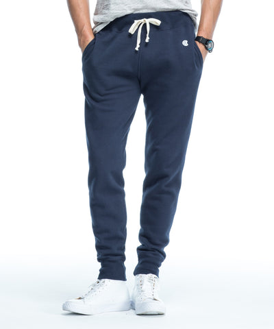 Slim Jogger Sweatpant in Navy