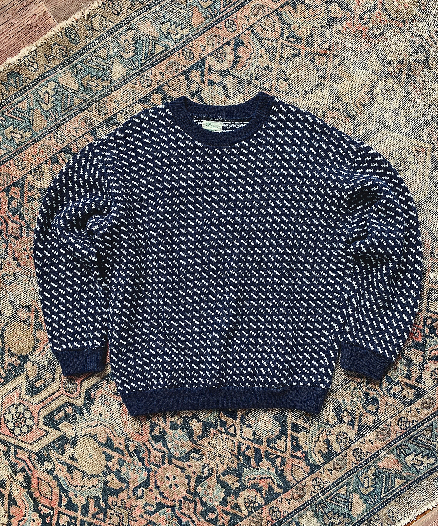 Item #10 -  Todd Snyder x Wooden Sleepers 1960's Norwegian Sweater in Navy - SOLD OUT