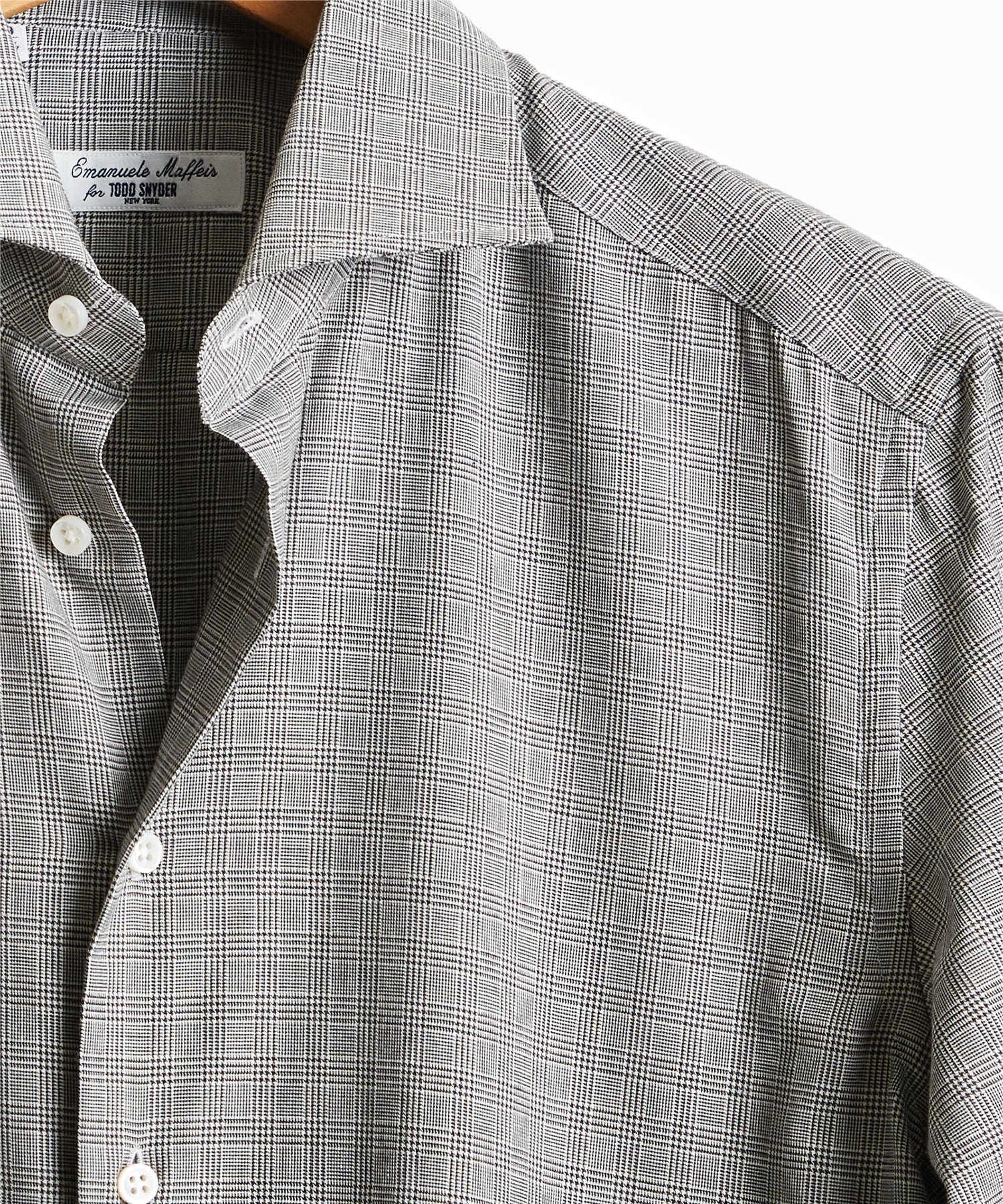 Camiceria E. Maffeis Dress Shirt in Grey Glenn Plaid