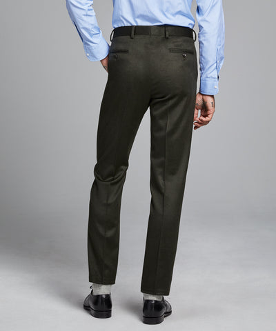 Italian Cashmere Sutton Suit Pant in Olive