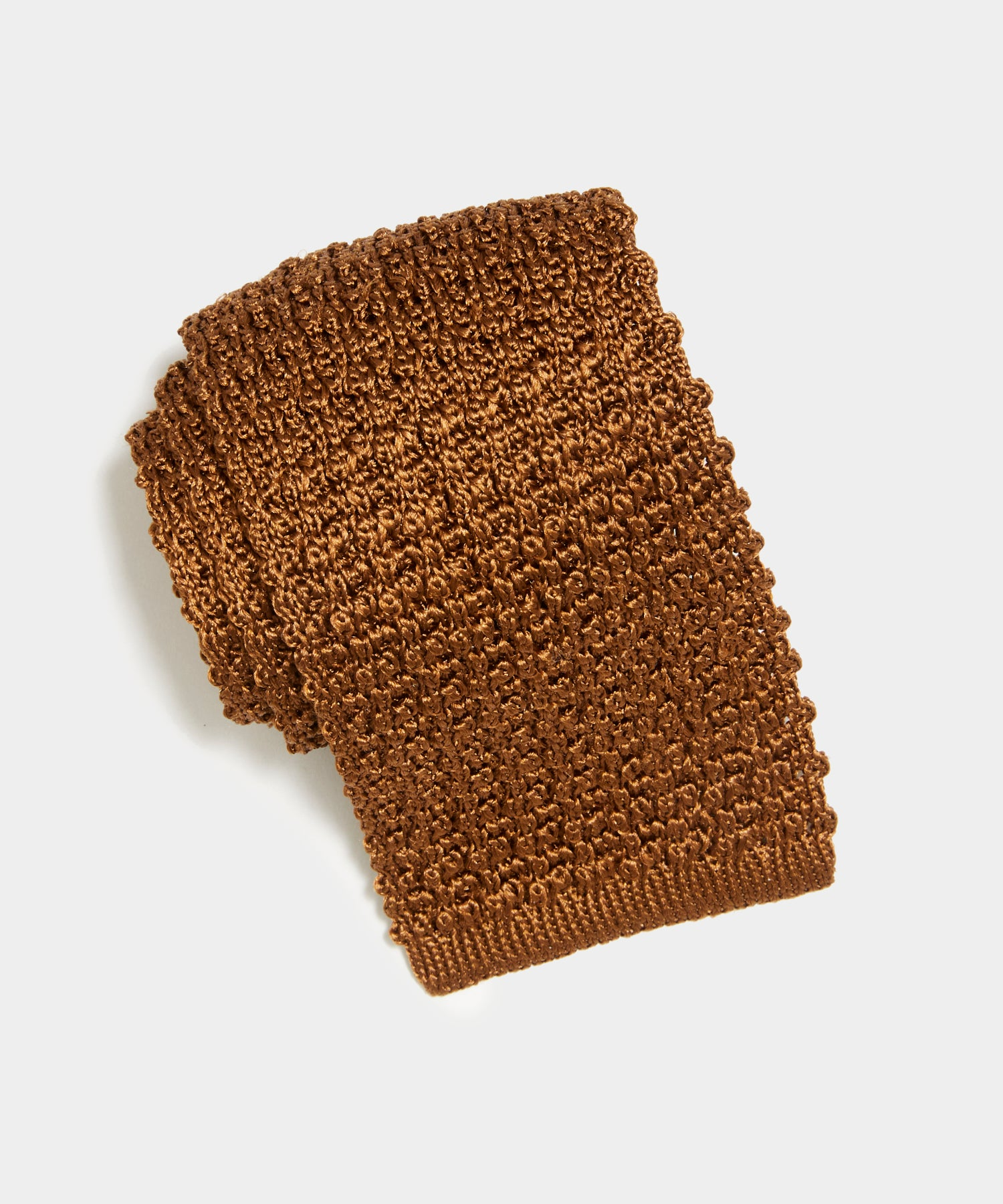 TS x Drake's Silk Knit Tie in Brown