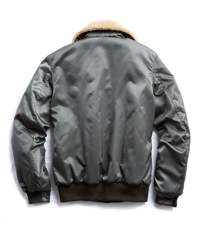 Golden Bear + Todd Snyder Exclusive Shearling Collar Bomber in Olive
