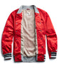 Champion Satin Graphic Bomber in Red Alternate Image
