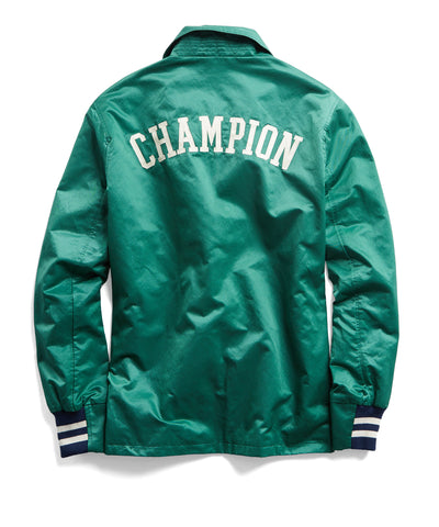 Champion Satin Coach's Jacket in Green