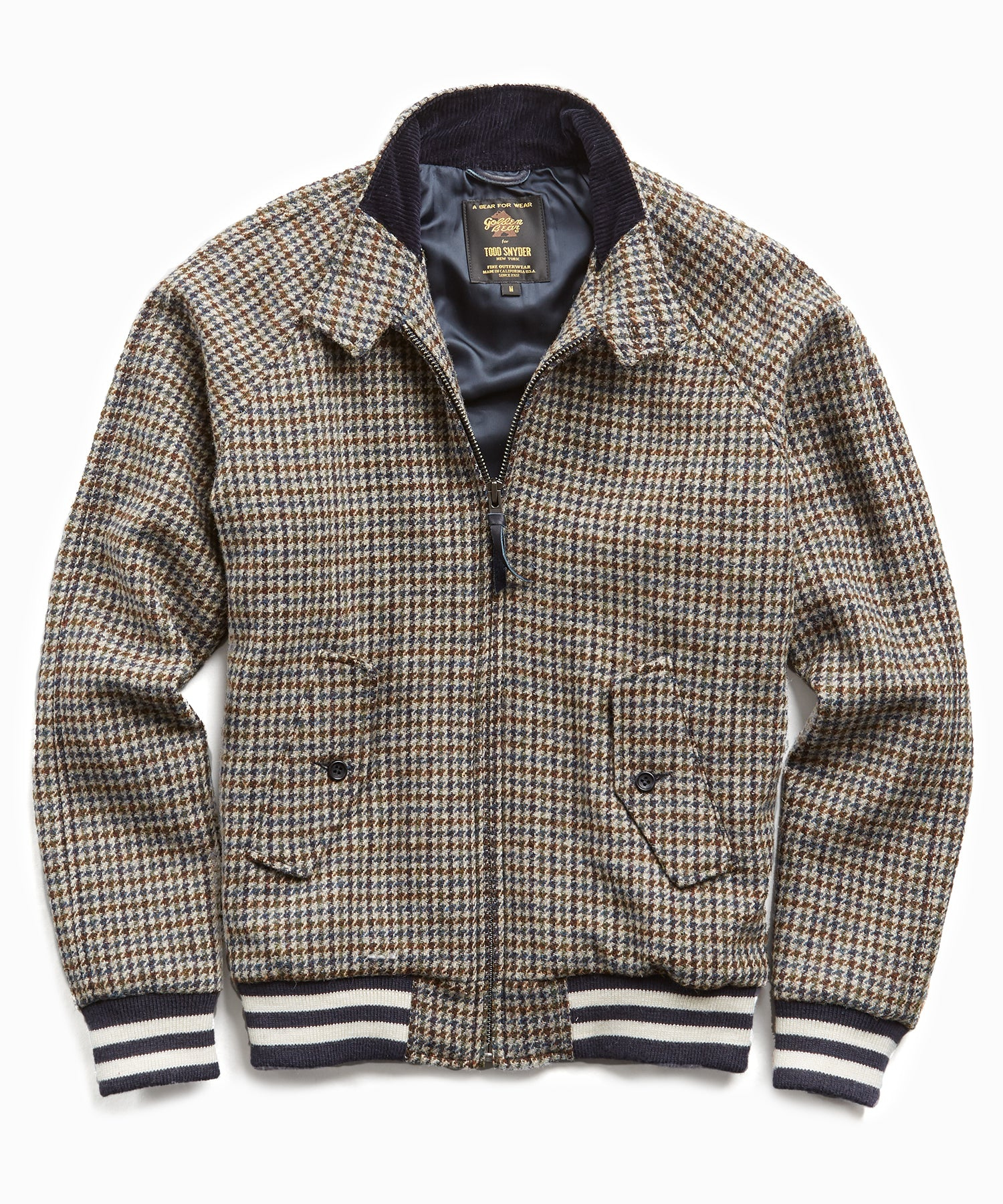 Exclusive Golden Bear + Todd Snyder Harris Tweed Bomber