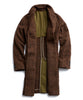 Italian Wool Boucle Glen Plaid Topcoat in Brown Alternate Image