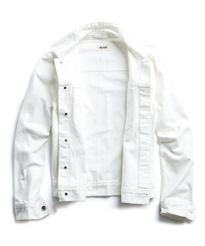 Japanese Stretch Selvedge Denim Jacket in White