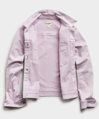 Garment Dyed Twill Jacket in Lavender