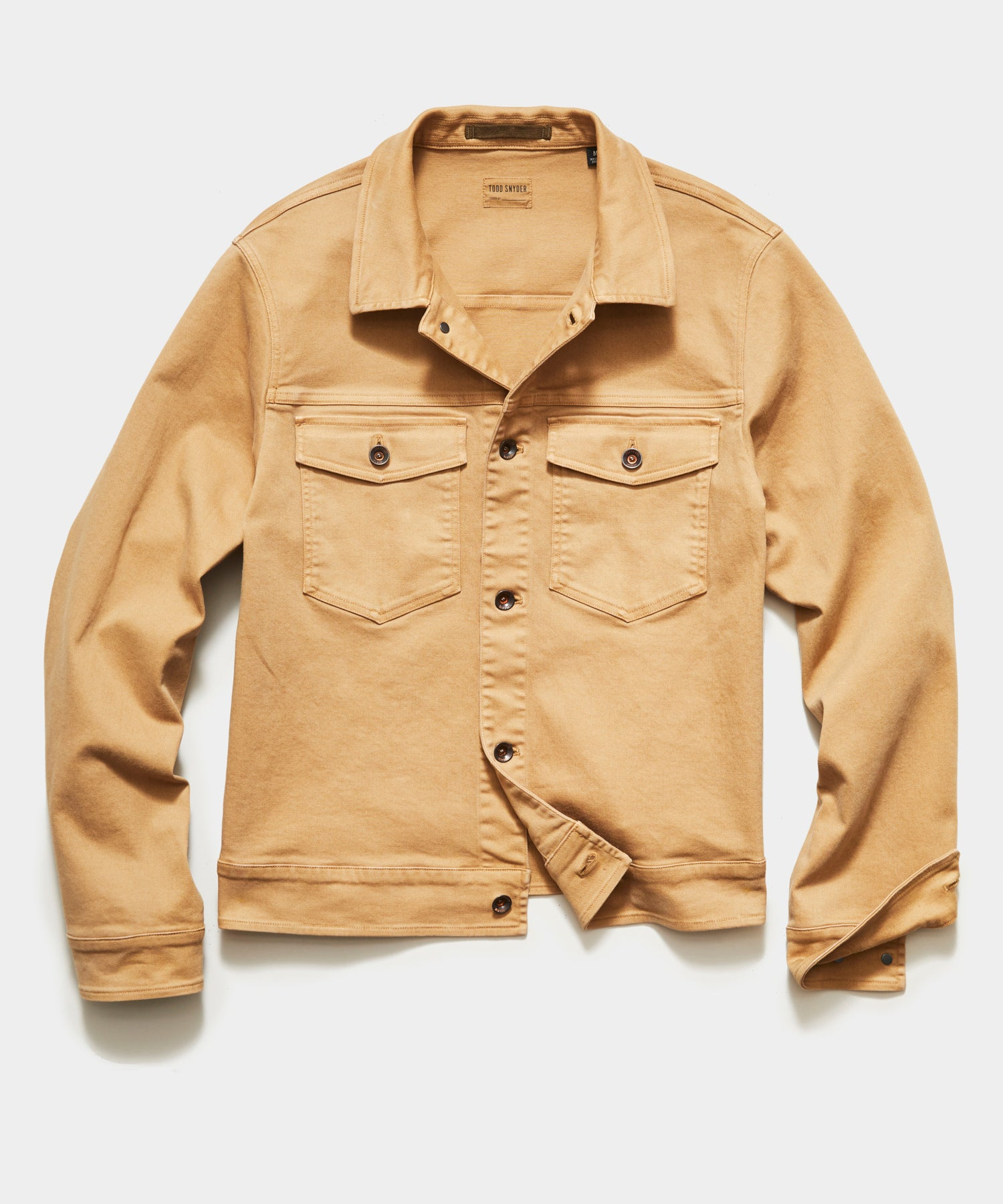 Garment Dyed Twill Jacket in Barley