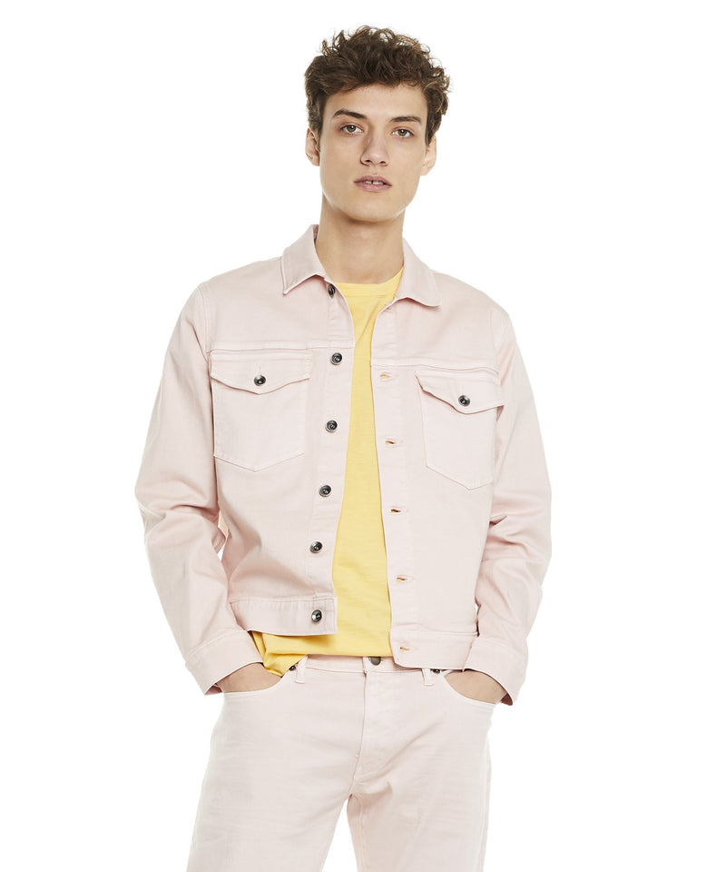 Garment Dyed Twill Jacket in Pink