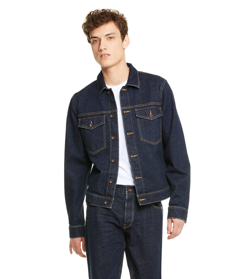 Japanese Stretch Selvedge Denim Jacket in Stone Wash