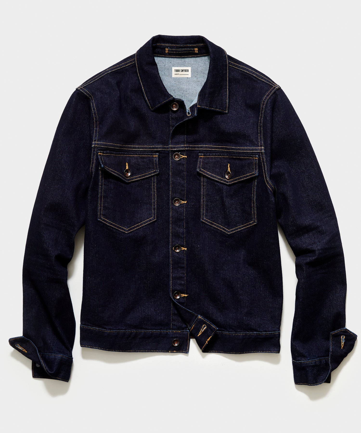 Stretch Denim Jacket in Indigo Rinse